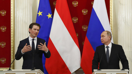 Top quotes from Putin's Austrian interview – so tense he had to resort to German to make his point