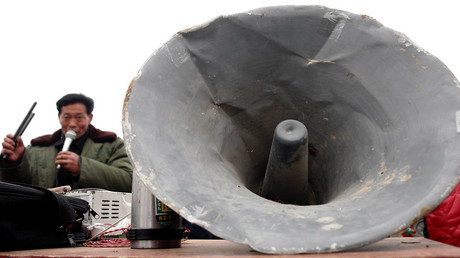 FILE PHOTO: Traditional Chinese story-telling through a loudspeaker © Wang Song