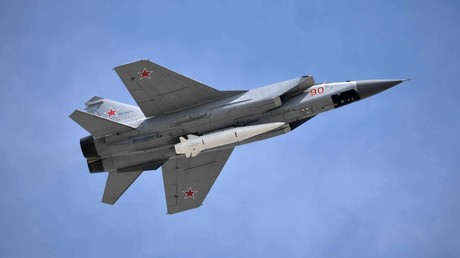 FILE PHOTO. MiG-31 fighter jet carries Kinzhal hypersonic missile. © Alexey Nikolskiy