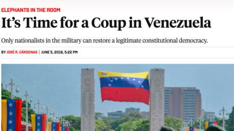 US media openly calling for Venezuela military coup