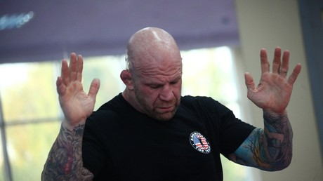 Jeff Monson conducts a training session in Russia © Sergey Vedyashkin, Moskva News Agency