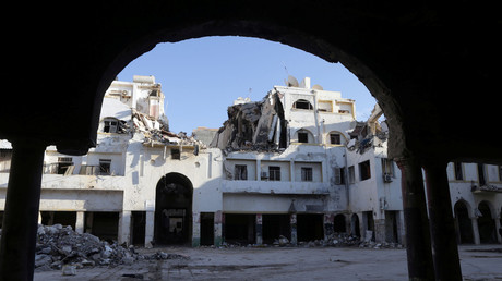 A historic building, that was ruined during a three-year conflict, is seen in Benghazi, Libya February 28, 2018. © Esam Omran Al-Fetori