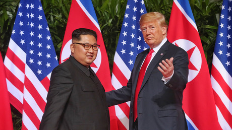 Kim Jong-un and Donald Trump, Singapore,  June 12, 2018 © The Straits Times