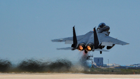 A South Korean F-15 takes off during last year's 'Max Thunder' military exercises