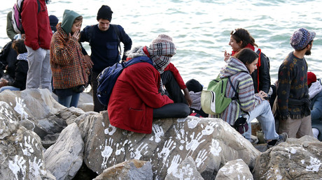FILE PHOTO Migrants at a border crossing between Ventimiglia, Italy and Menton, France, September 30, 2015.