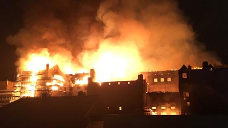 Major blaze ravages Glasgow School of Art's Mackintosh building (PHOTOS, VIDEOS)
