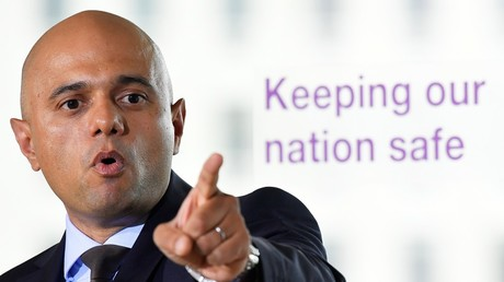 Britain's Secretary of State for the Home Department Sajid Javid.