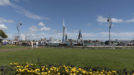 The Emirates Spinnaker Tower Portsmouth viewed from Gosport waterfront © Education Images