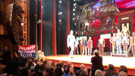 Trump supporter punches back at De Niro, interrupts Broadway show