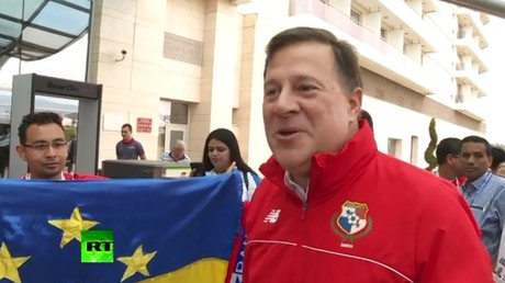 I am here  just for our first ever World Cup match – Panama president Juan Carlos Varela (VIDEO)