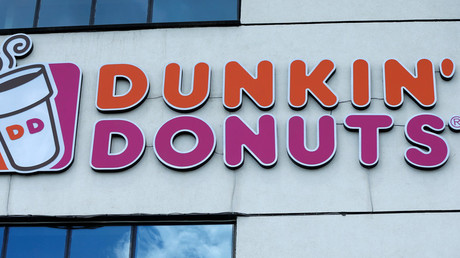 Dunkin' Donuts removes sign promising free food for reporting staff shouting in foreign languages