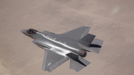 F-35 Lightning II at Edwards Air Force Base, California. June 11, 2014. © Stocktrek Images.