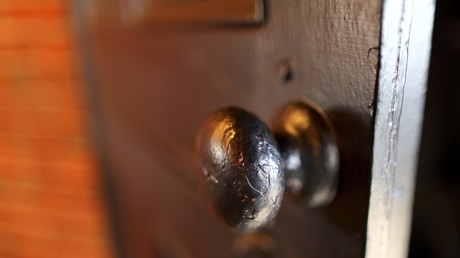 Stock image of a door handle.