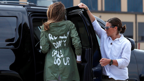 'Do u?' Melania's jacket sparks fresh outrage amid immigration row
