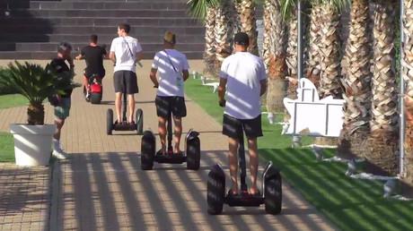 Watch German players riding Segways around Sochi during down time (VIDEO)