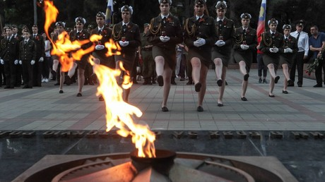 The guard of honor company during the Candle of Memory international commemorative event on the Day of Remembrance and Sorrow in Vladivostok © Denis Abramov