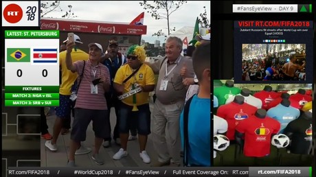 WORLD CUP 2018 LIVE #FansEyeView #FootWall