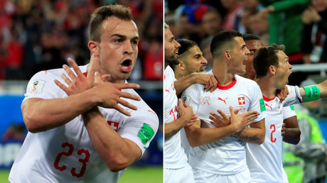 Shaqiri & Xhaka celebrations spark scandal as politics overshadows Swiss win against Serbia