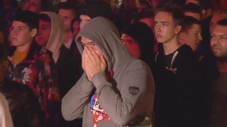 Heartbreak! Serbia fans' react to deflating defeat to Switzerland (VIDEO)
