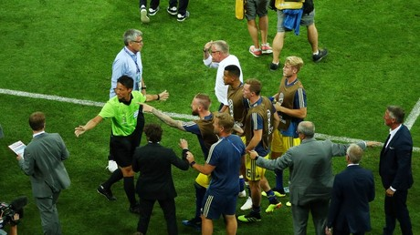 'They rubbed our faces in it': Sweden & Germany in touchline clash after late World Cup drama