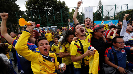 Colombia turns into sea of yellow as football fans revel in Los Cafeteros win over Poland (VIDEOS)