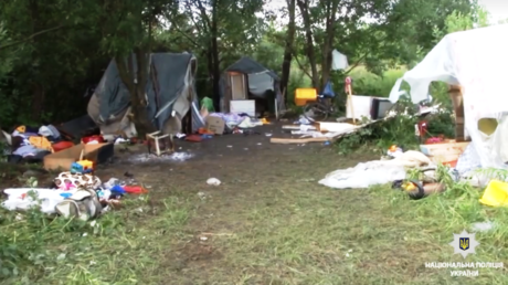 A Roma camp in Lvov, Ukraine © The National Police of Ukraine