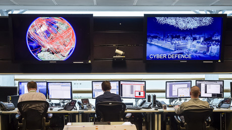 An inside shot of the 24 hours operations room of GCHQ in Cheltenham © Ben Birchall/AFP