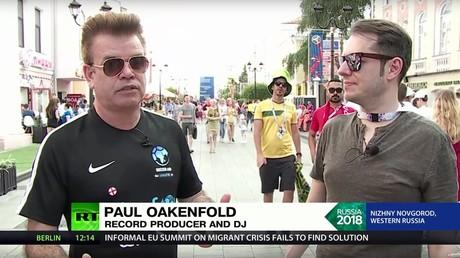 5b311a45fc7e93ce628b465e 'Lucky to be here': DJ Paul Oakenfold tells RT of World Cup impression