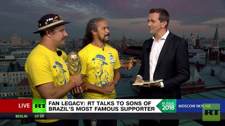'We are in love with Russia' – Sons of Brazil's most famous football fan on World Cup experience