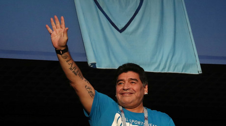 'I'm fine' – Maradona reassures fans after health scare in St. Petersburg