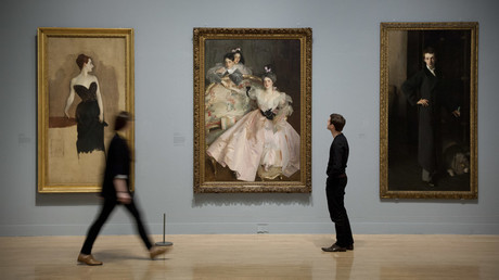 Artwork on display at the Tate Britain in a past exhibition that looked at how British art was influenced by migration. © Matt Cetti-Roberts