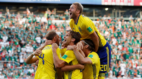 Sweden 3-0 Mexico: Swedes stun sloppy Mexicans to win Group F