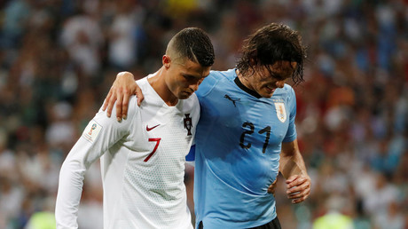 'Touch of class': Ronaldo 'sportsmanship' shown to injured Cavani creates talking point