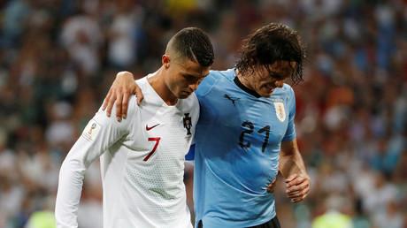 'Touch of class': Ronaldo 'sportsmanship' shown to injured Cavani creates talking point