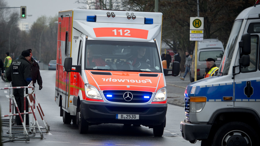 Children among 40+ injured as bus crashes into ambulance in Germany (PHOTOS)