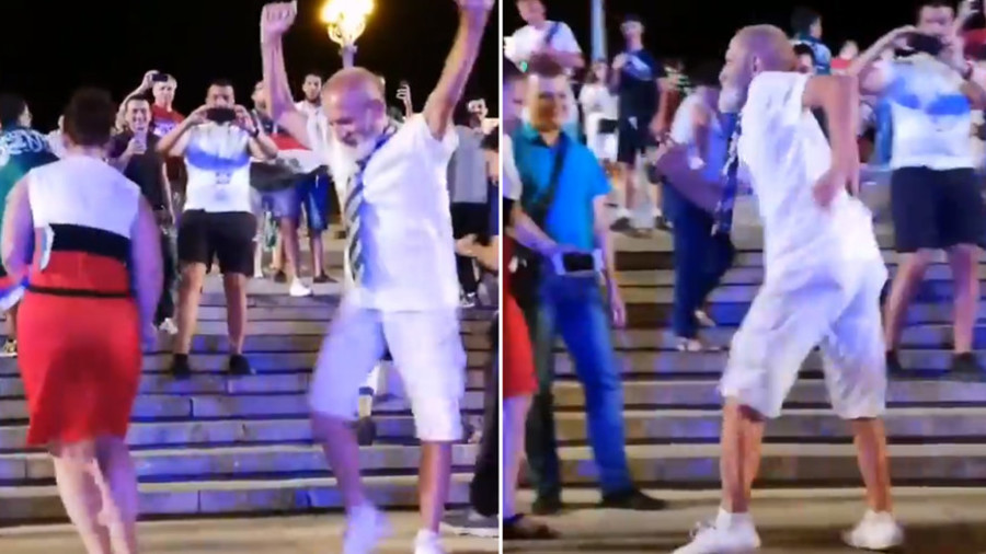 Russian pensioner's World Cup moves a match for 'dancing millionaire' Gianluca Vacchi (VIDEO)