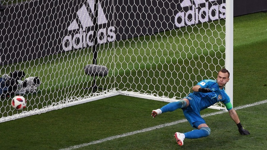 Did Russia striker Dzyuba teach Akinfeev the stunning save that sent Spain home? (VIDEO)