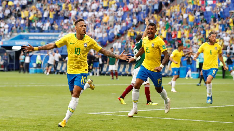 Brazil 2-0 Mexico: Neymar plays hero & villain in last 16 victory over El Tri