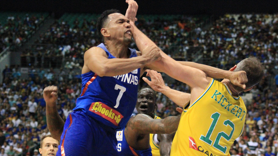 'Biggest on-court fight in a decade' breaks out at Australia-Philippines basketball game (VIDEO)