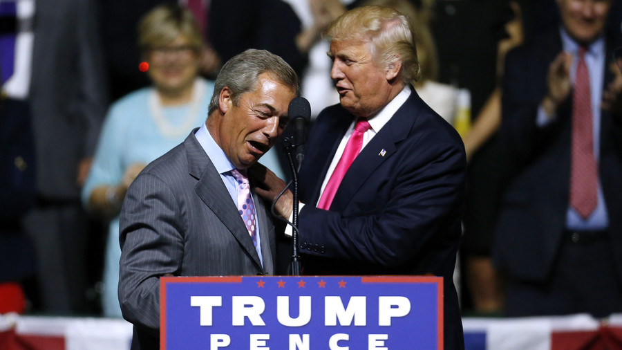 Nigel Farage: 'I'm banned from meeting Trump because UK govt hates me'