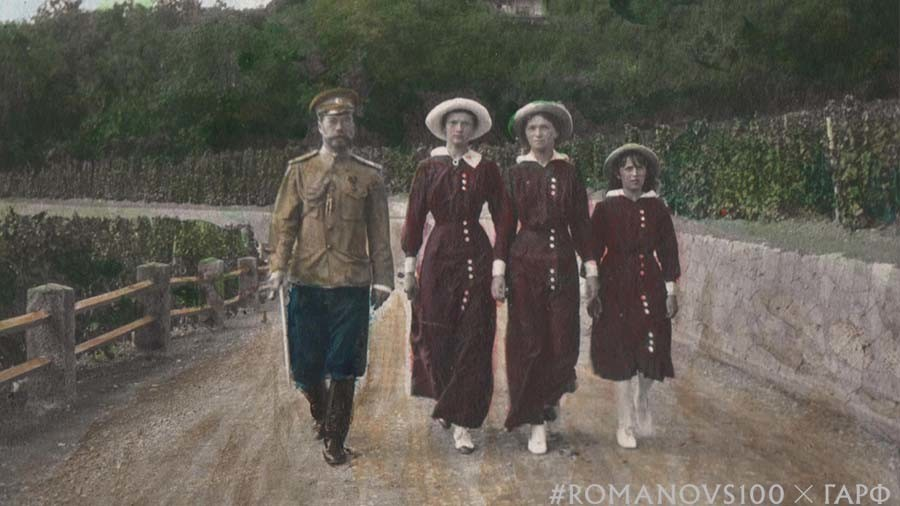 #Romanovs100: Artist finishes what Romanov sisters started, colors photos after Anastasia (VIDEO)