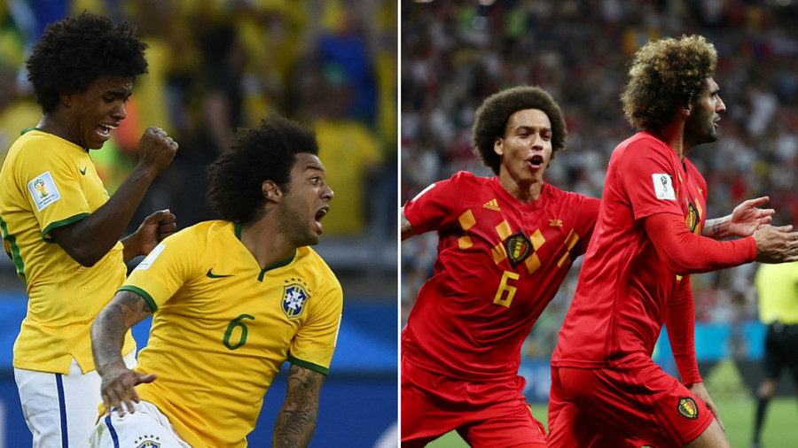 Best afro wins!: Football fans revel in bushy haircuts frenzy during Brazil vs Belgium match
