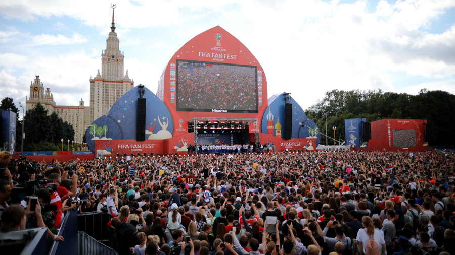 24,000 fans thank Russian players for fantastic World Cup display (PHOTOS)