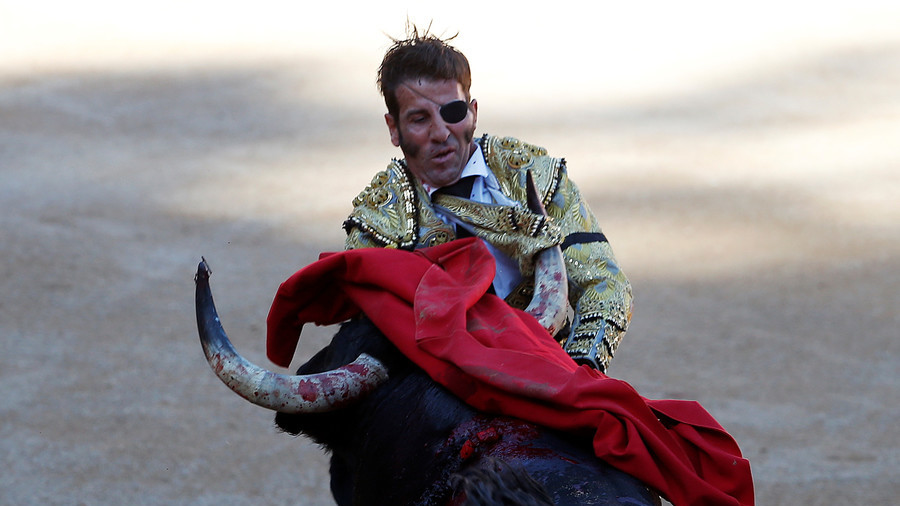 Legendary bullfighter mauled and scalped by bull in horrific accident (GRAPHIC VIDEO)