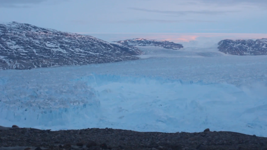 Four-mile-long iceberg breaks off Greenland glacier in dramatic video