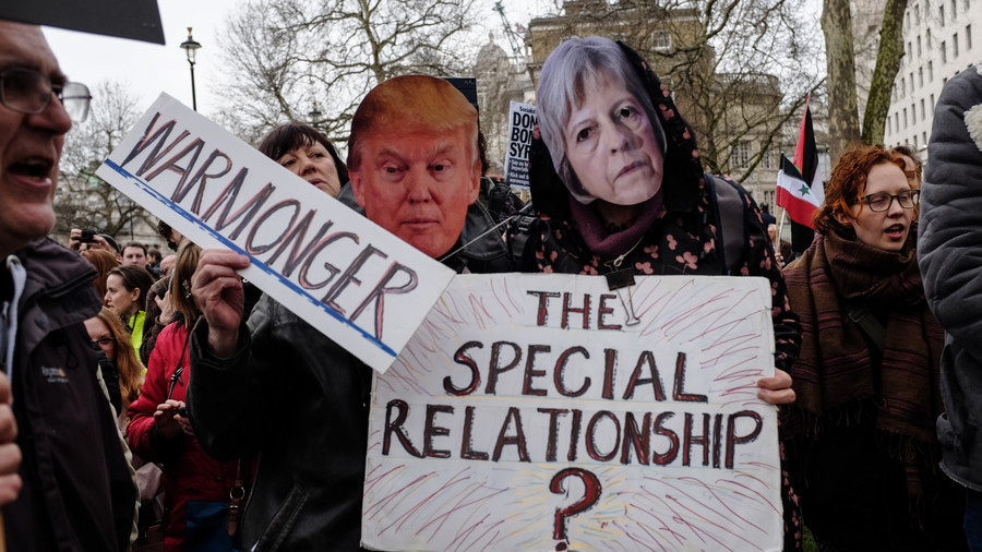 London awaits Trump's visit, braces for protests