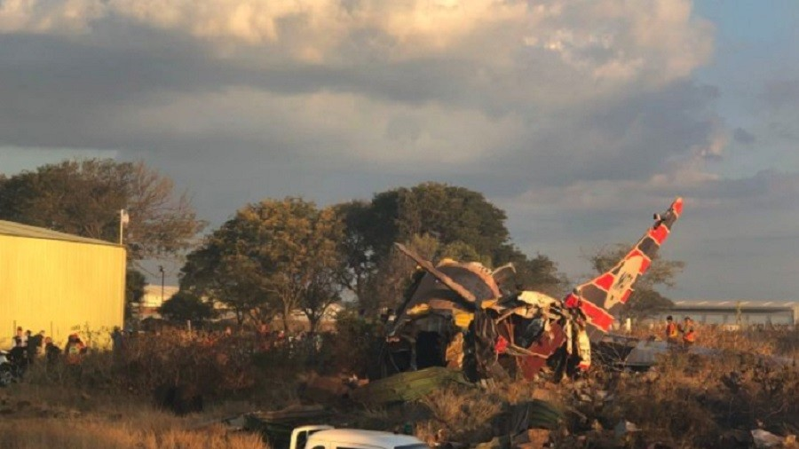 Plane Crashes in Pretoria, South Africa