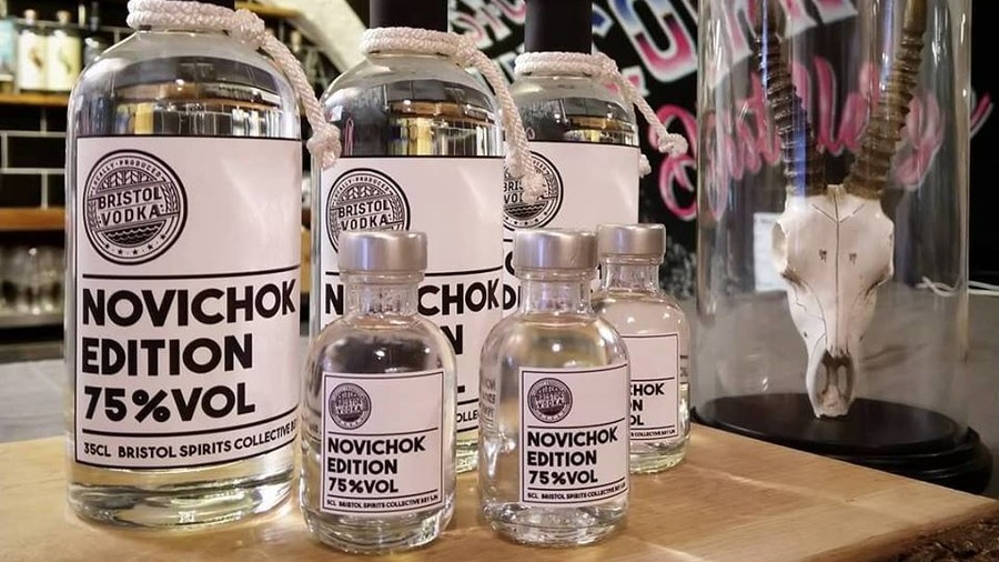 Mean spirits: Bristol distillery apologizes over tasteless timing of Novichok-brand vodka launch