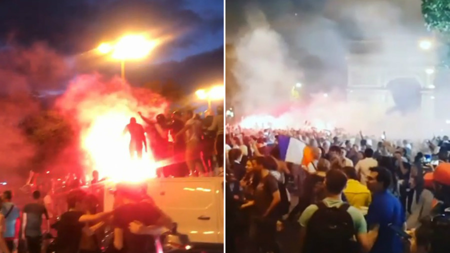 'Allez les Bleus!' France erupts into euphoria after football team edges into final (VIDEO)