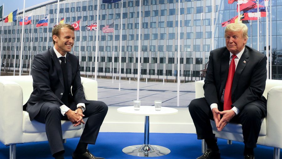 Trump cracks joke with Macron at NATO summit — even the media laughed (VIDEO)